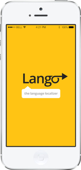 Lango universal translator app launcher screen