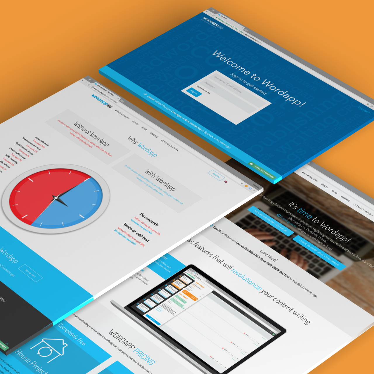 Wordapp.io homepage